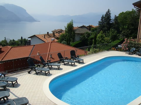 Sea view, 4pers, large terrace, shared pool