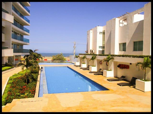 Cartagena - La Boquilla Luxury Flat Seafront 120m2 - La Boquilla - Huoneisto