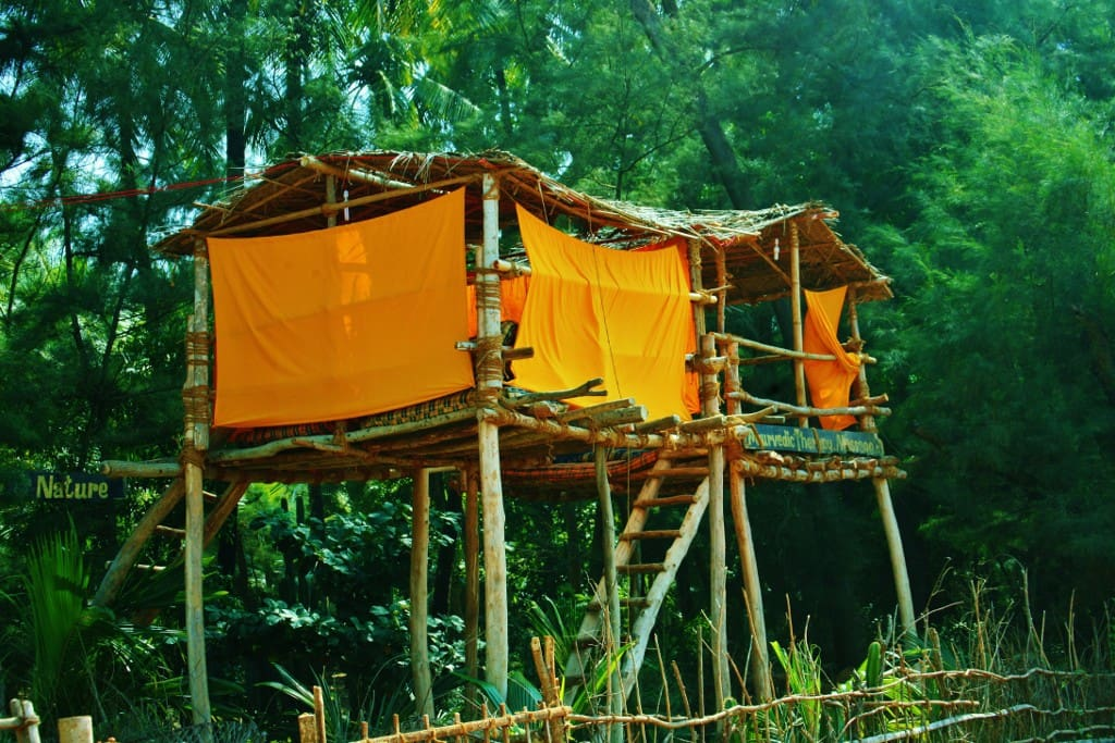 These treehouse are in Garden and 100 meter from beach