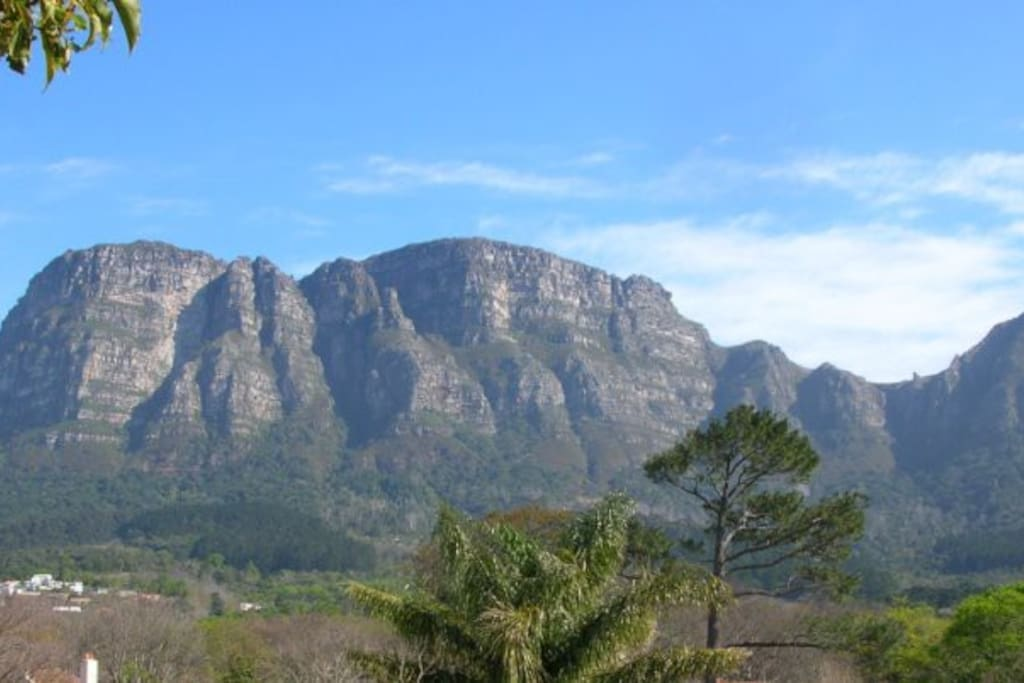 Our stunning view of table mountain.