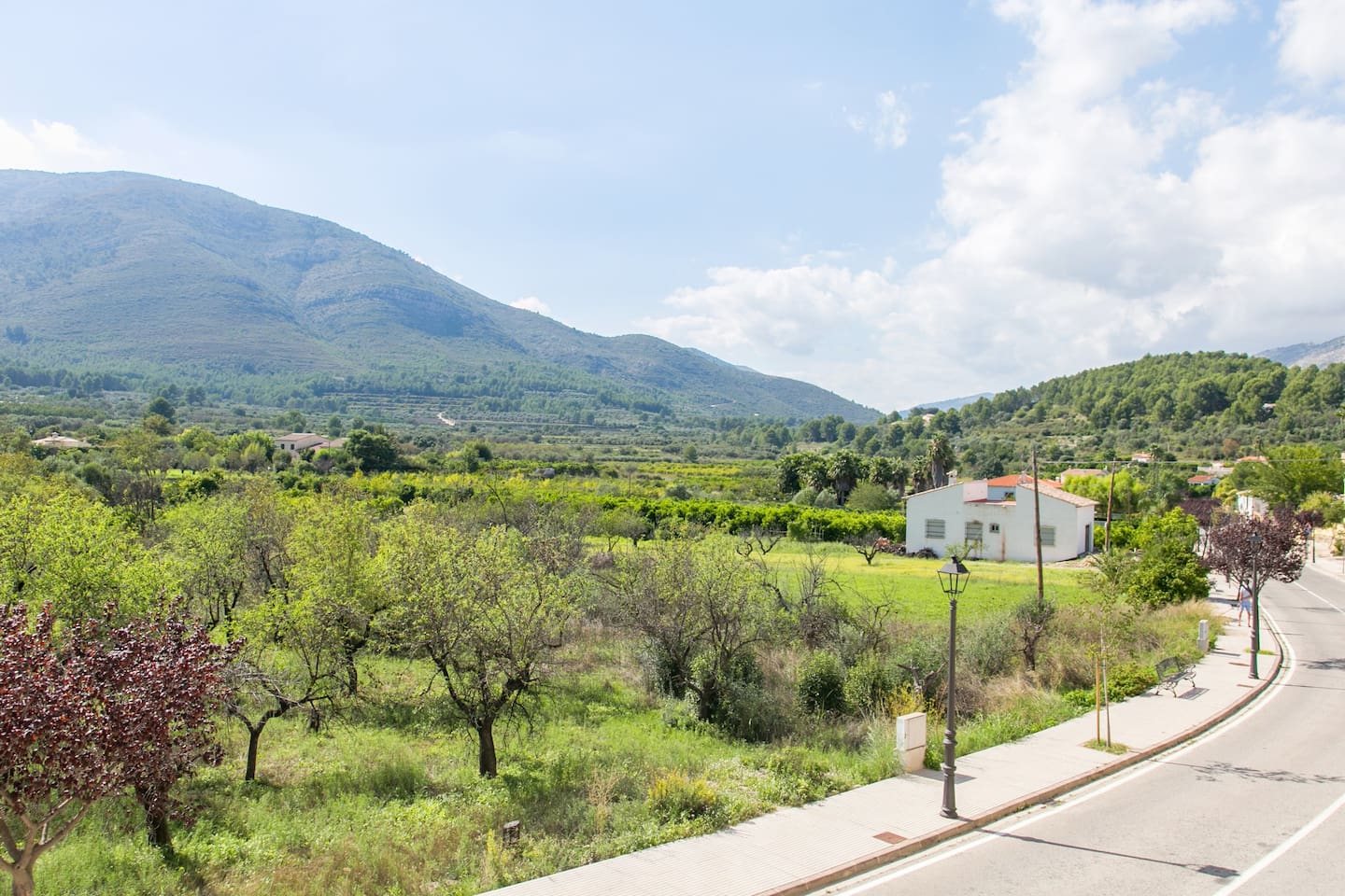 View from the front balcony. Down the road towards Orba within the Vall de Pop region of the Costa Blanca.