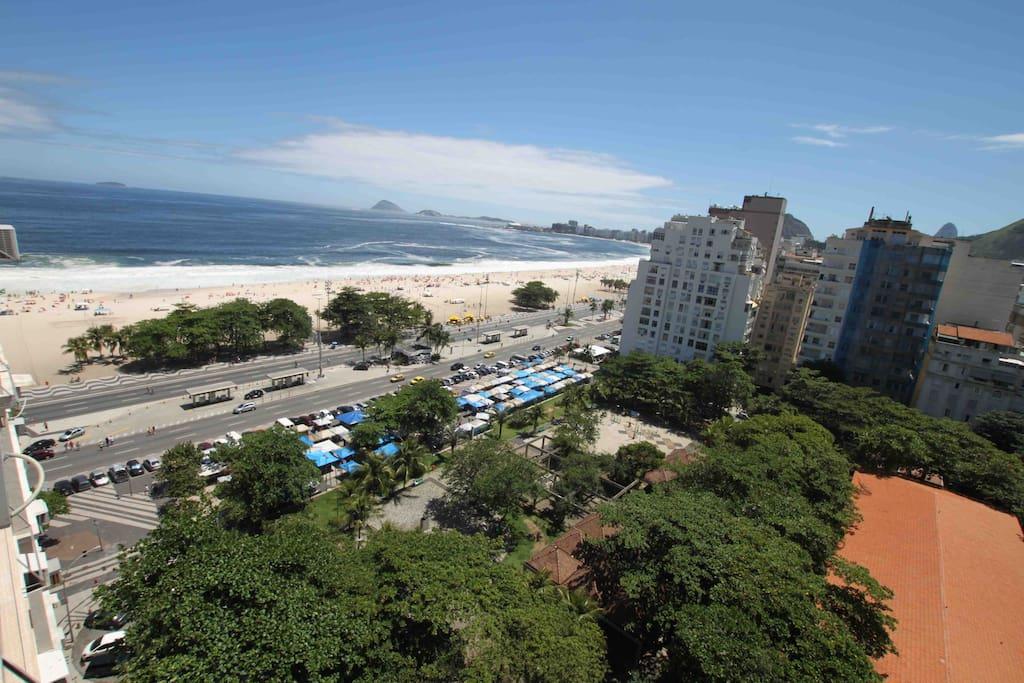 Copacabana Beach from the window.