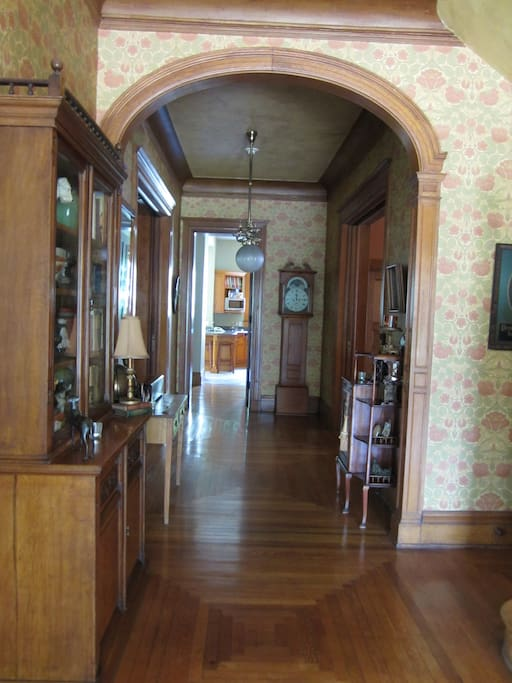 Historic Wallpaper and antique furnishings