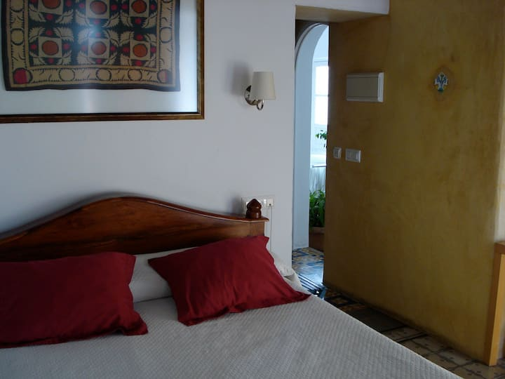 Comfortable double room with views.