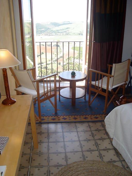 Views from double room. Vistas desde habitación Doble.
