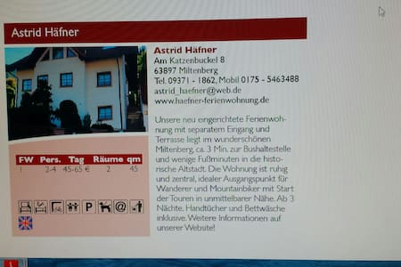 Ferienwohnung Häfner  in Miltenberg - Miltenberg - 公寓
