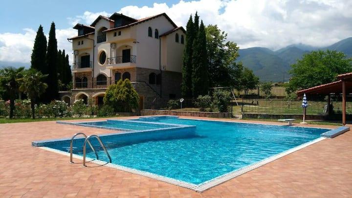Olympus Villa Anna 8 bedrooms 20 people stay.