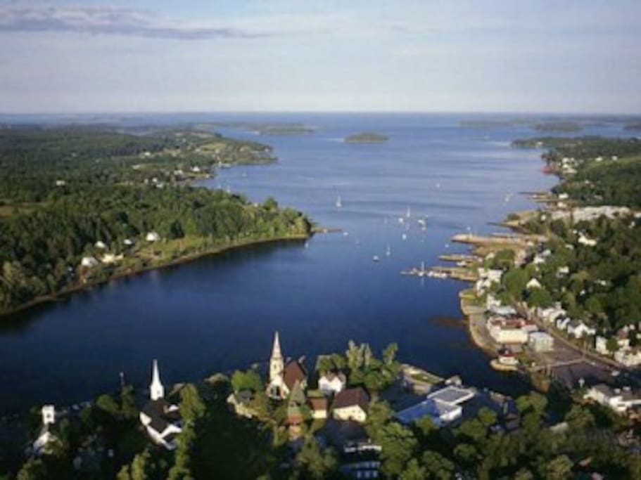 Spectacular view of Mahone Bay...Known for the 3 Historical Churches....We are nestled in between the two on the left in this picture.