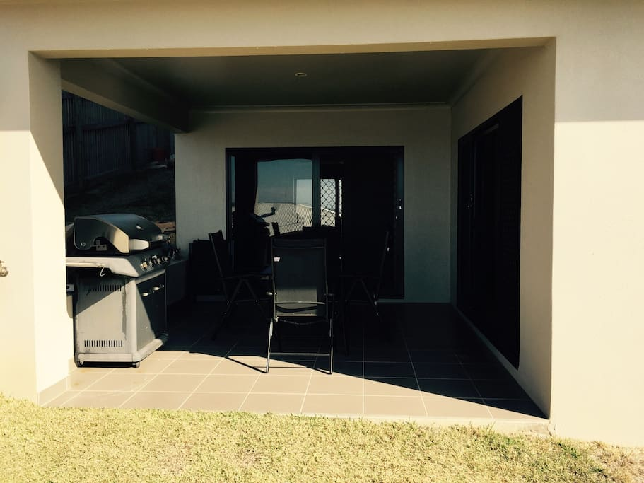 Downstairs balcony is private and not used by hosts Gas BBQ available including tools oil etc