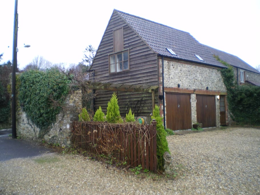 The annexe from the outside