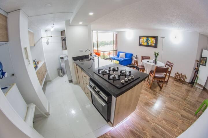 Acogedor apartamento, en el norte de Bogotá