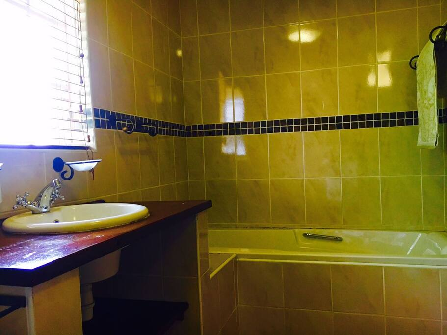 Bathroom with  bath.