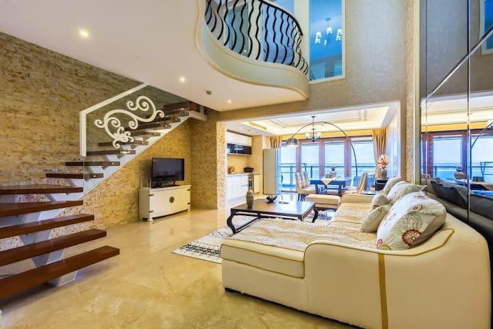 三亚半山半岛豪华复式海景房两室两厅住6人