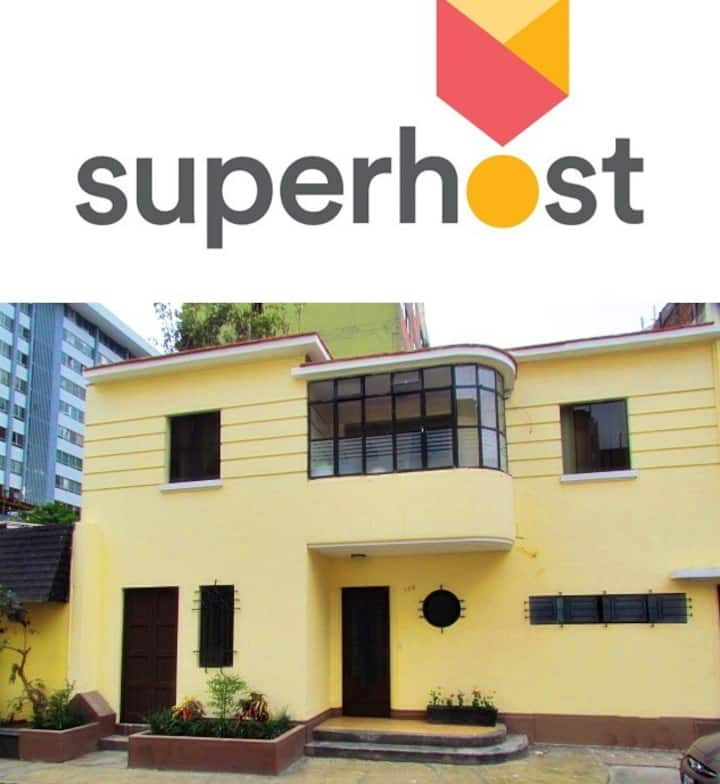 Miraflores Downtown House for up to 11 guests