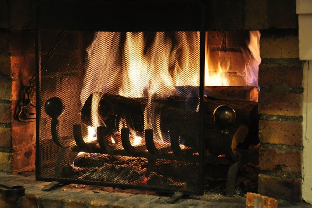 The log fire is perfect for warming up after a day on the slopes
