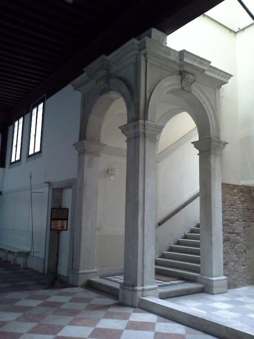 XVII century main entrance stair