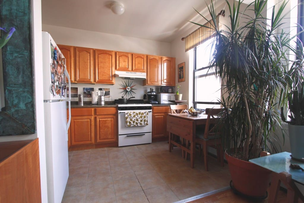 The spacious and airy kitchen.