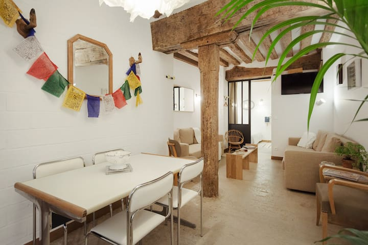 City Center Beaubourg 1BD 6 people loft