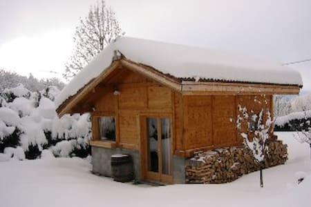 Mazot face au Mont-Blanc avec jacuzzi et sauna - Passy