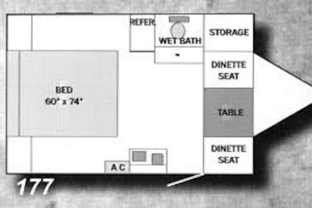 This is the floor plan inside.