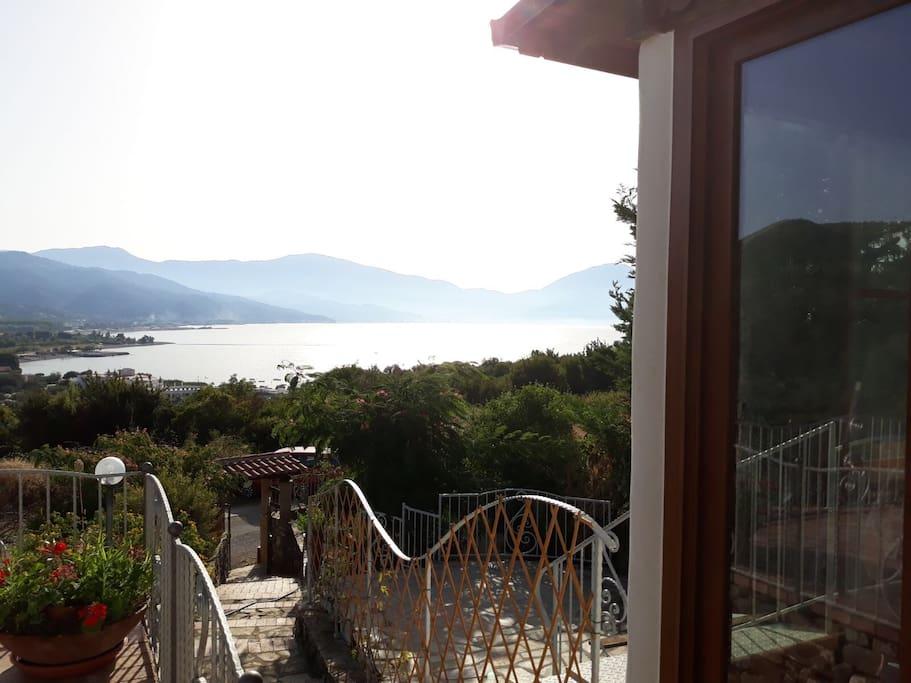 Vista dall'ingresso dell'appartamento dello splendido Golfo di Policastro