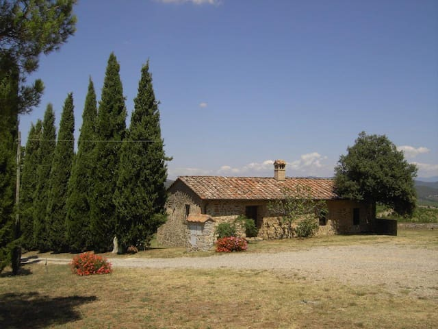 Tuscany: Wonderful holiday home with pool, great view from the Chianti hills between Siena and Florence