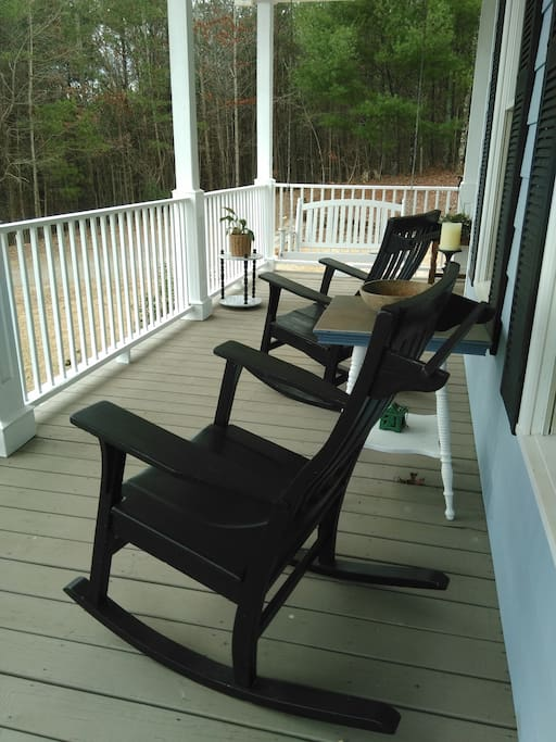 Big Southern Front Porch with swings and rocking chairs