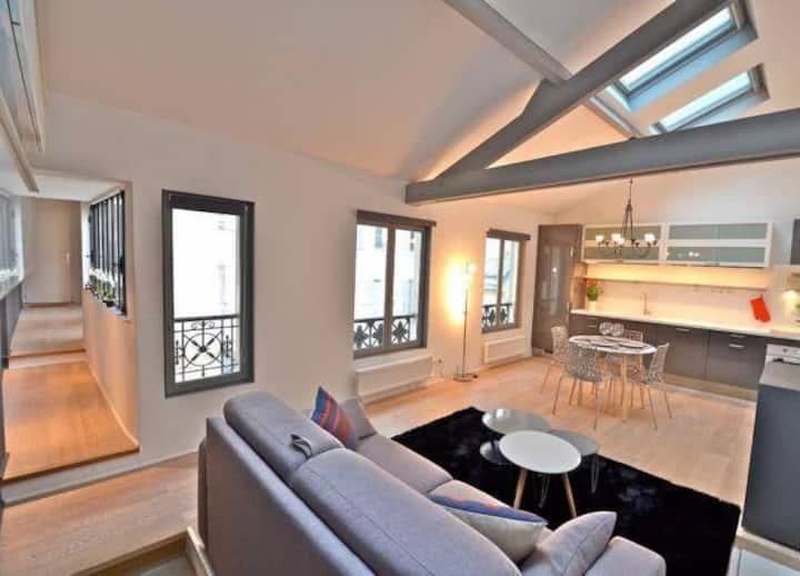 Grand duplex en plein centre de Paris (le Marais)