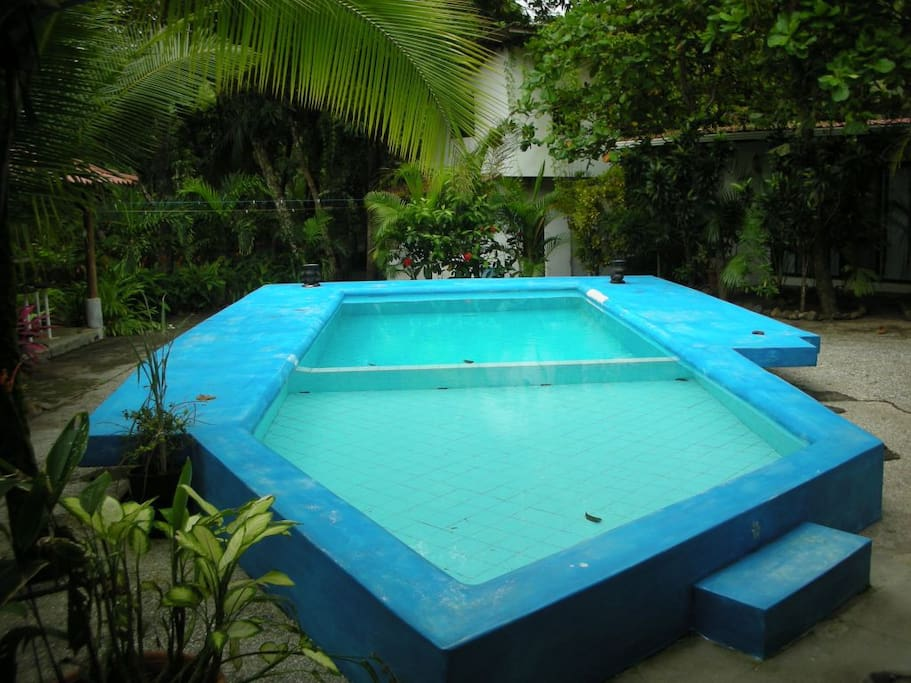 private pool with separate child wading pool