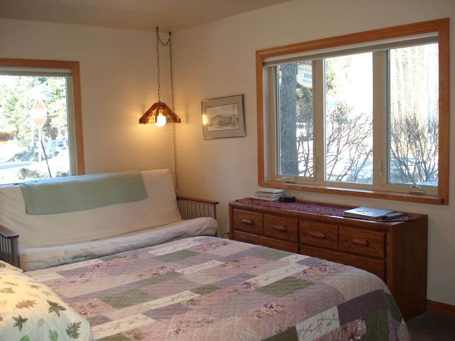 Arlberg Room--queen bed & double futon--can accommodate 4 guests.