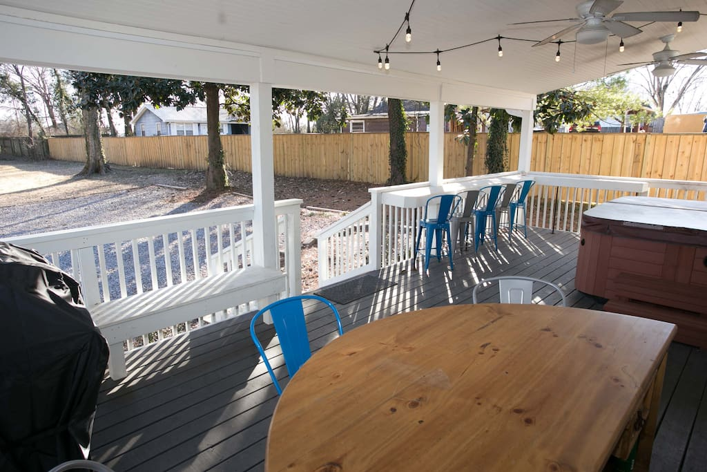 Plenty of bar seating on the porch
