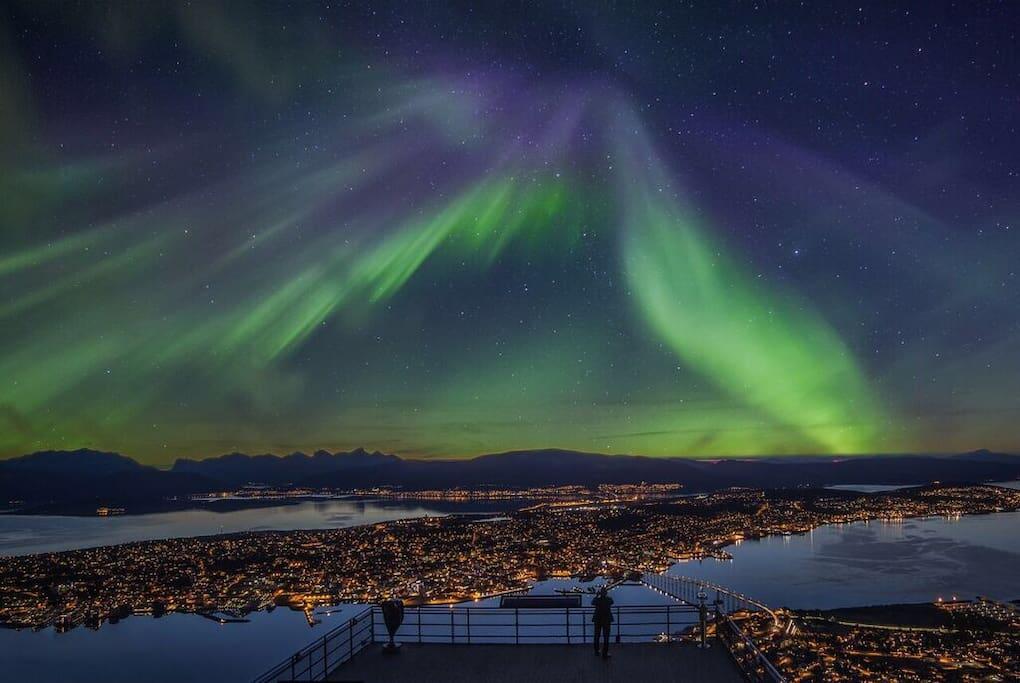 Aurora activity over Tromsø