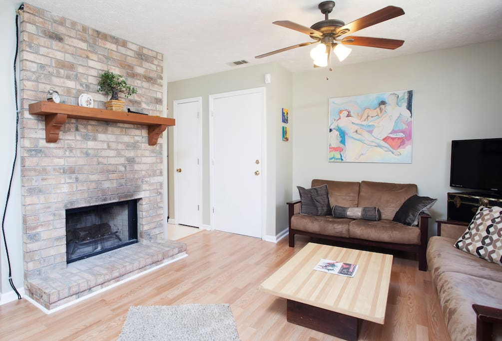 View of Fireplace in Living Room