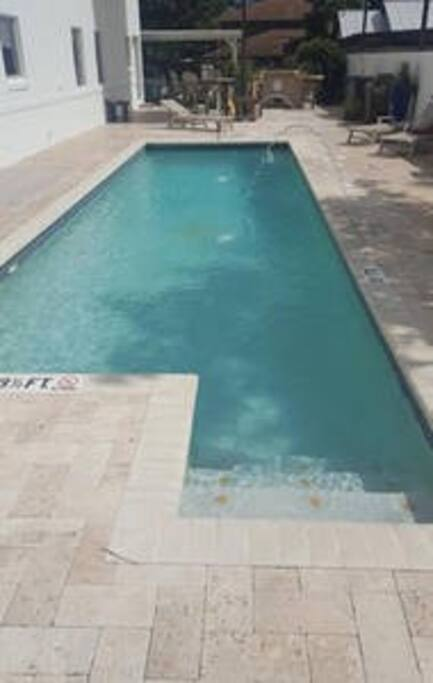 Heated Pool with fountains