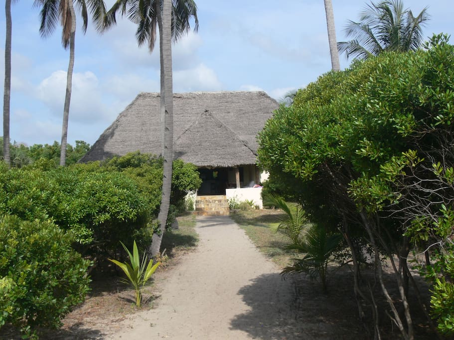House seen from the beach (60 m to beach front)