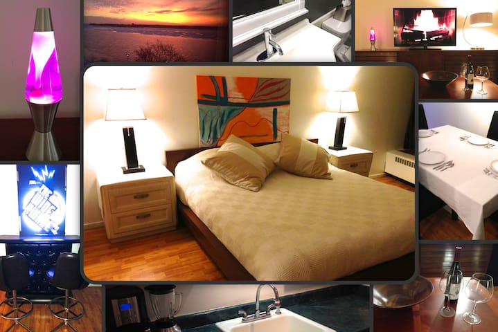 1 Bed Luxe River Suite + Bar (3 Month Stay +) - Detroit - Apartment