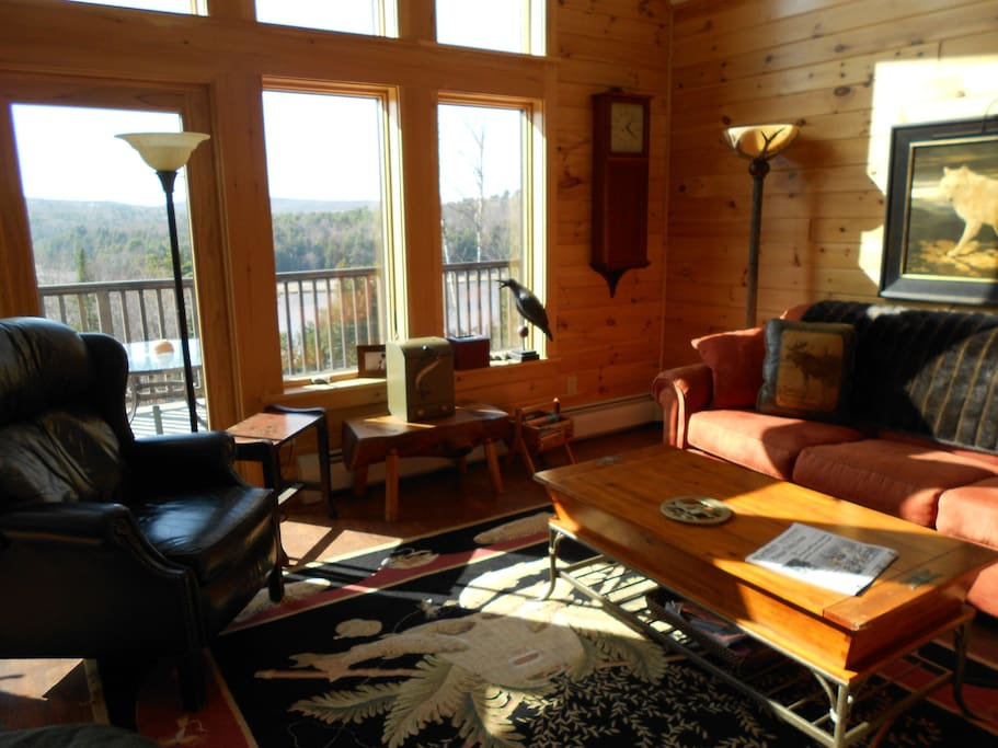SPECTACULAR VIEWS YEAR ROUND!!Tinted Glass .....BEAUTIFUL LODGE FURNITURE......VERY WARM AND COMFORTABLE!!