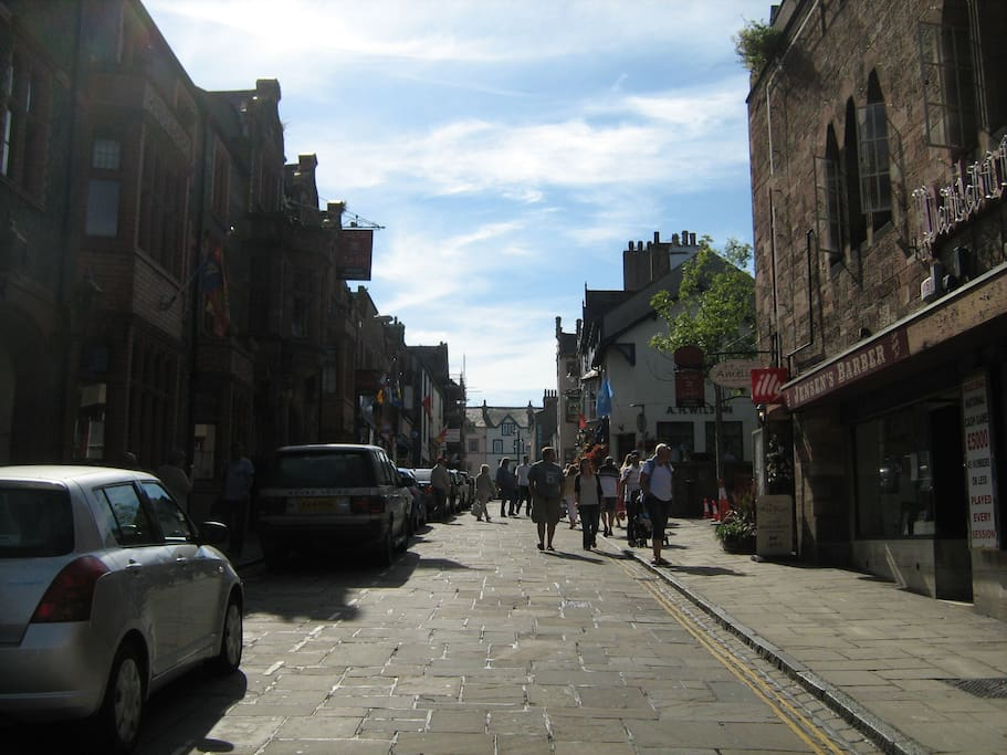 Main Street in Conwy