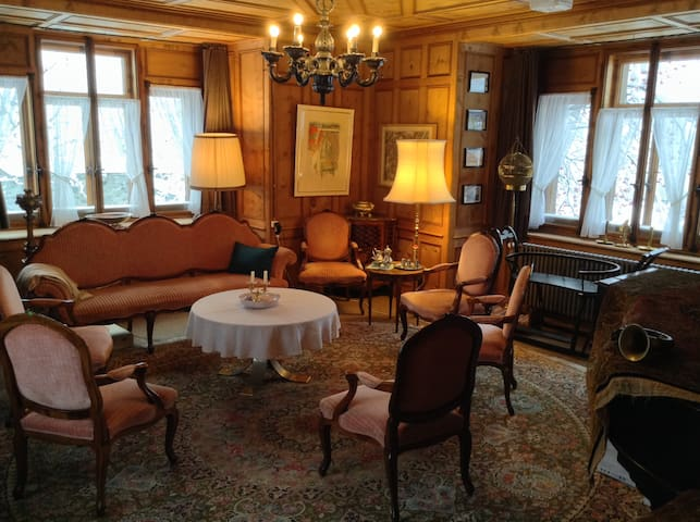 Sitting room at the ground floor of the tower