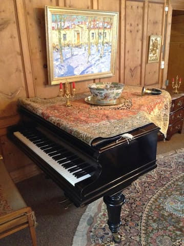 Bechstein grand-piano in the sitting room