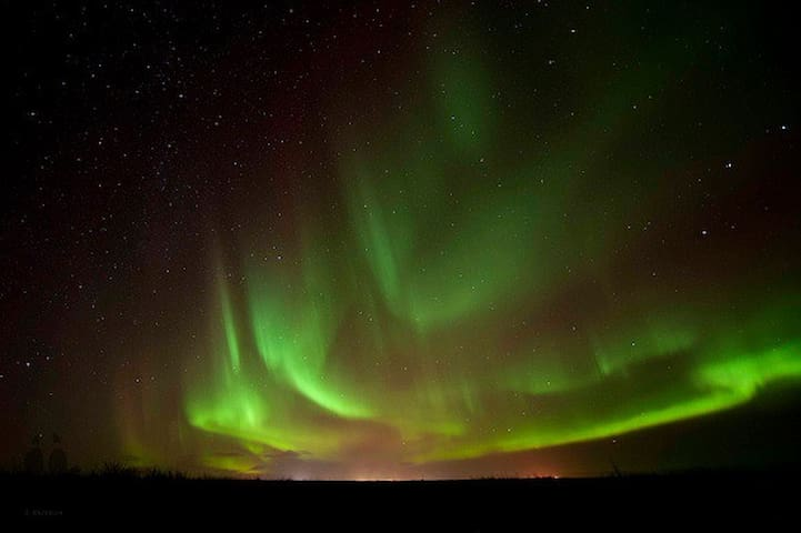 Aurora Borealis (The Northern Lights) are a common sight in Reykjanesbaer during the darkest winter nights