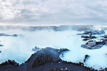 The amazing Blue Lagoon is only about 20 minute drive from the cabin