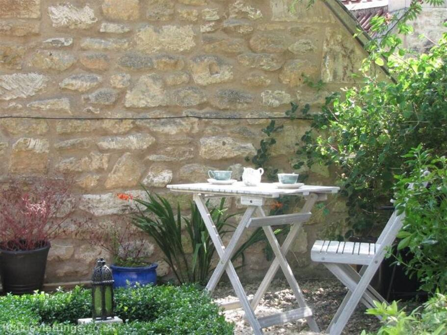 Afternoon tea at the bottom of the garden is a real treat!