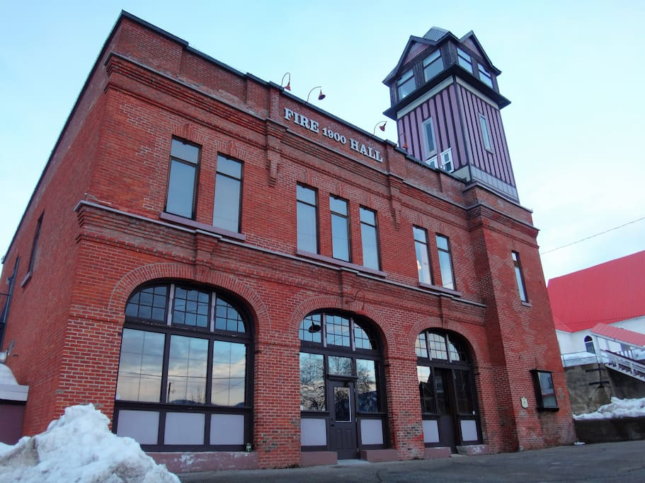 "the ""Old Firehall"" tower apartment: second to sixth floors"