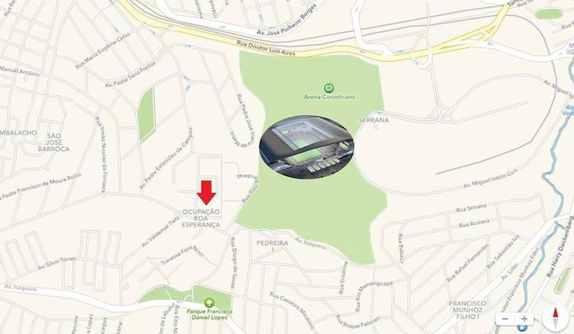 4room apart, 500m Sao Paulo Stadium