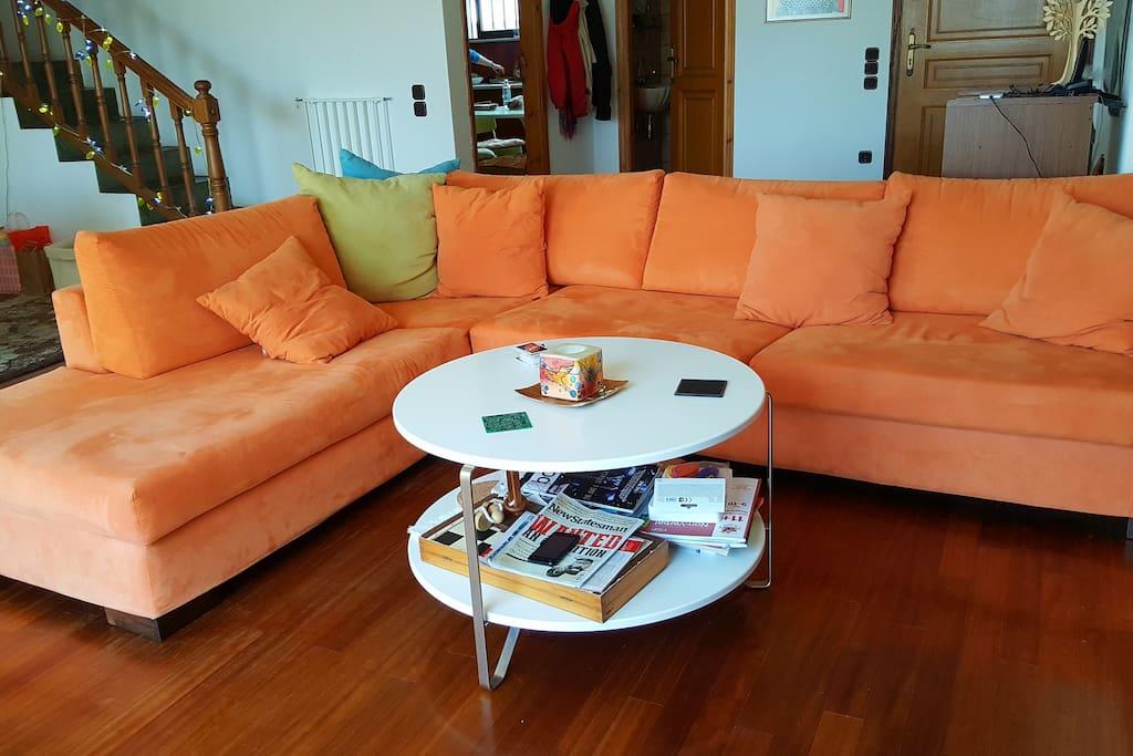 Coffee table & sofa