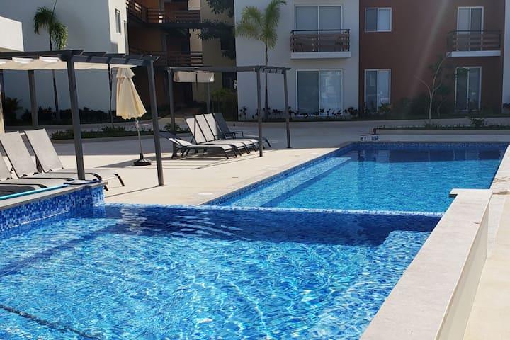 Cozy & modern apt. + pool view in Riviera Nayarit
