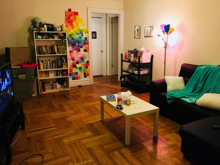 The living room of the apartment. I will be staying in this part of the house and sleeping here while you have access to the bedroom. *Note: Not a shared space
