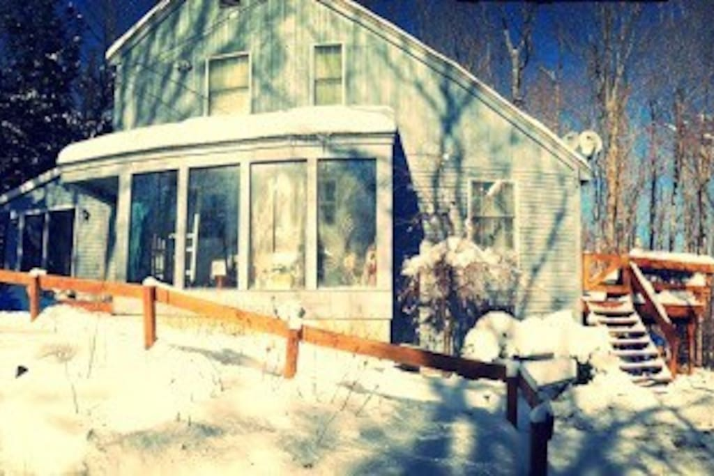 Home in the winter.