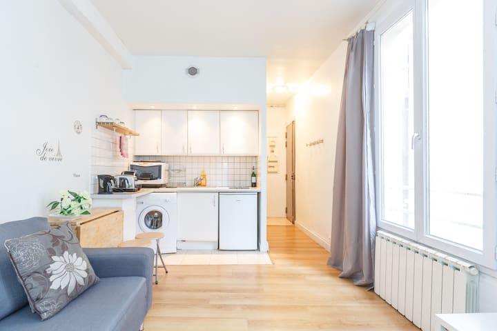 Delightful 1Br Near Montmartre - Paris - Lägenhet